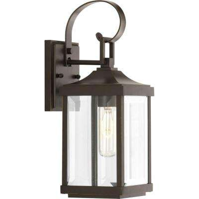 Gibbes Street Collection 1-Light Antique Bronze 15.1 in. Outdoor Wall Lantern
