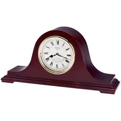 Bent Wood Case with Walnut Mantel Chime Clock