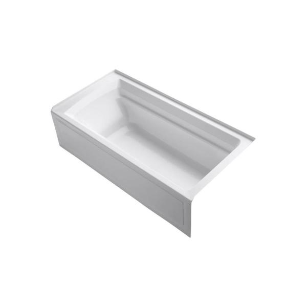Archer 72 in. x 36 in. Acrylic Alcove Bathtub with Integral Apron and Right-Hand Drain in White