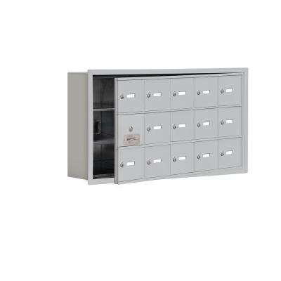 19100 Series 35.75 in. W x 18.75 in. H x 5.75 in. D 14 Doors Cell Phone Locker R-Mount Keyed Locks in Aluminum