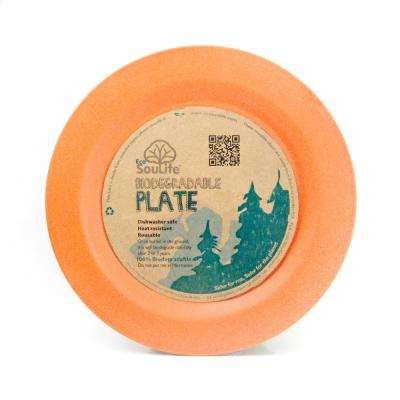 Bamboo 1-Piece Orange Side Plate (6-Pack)