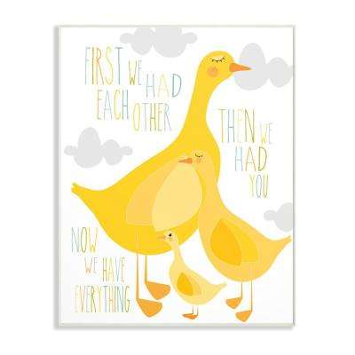"""13 in. x 19 in. """"First We Had Each Other Yellow Ducks"""" by Karen Zukowski (Finny and Zook) Printed Wood Wall Art"""