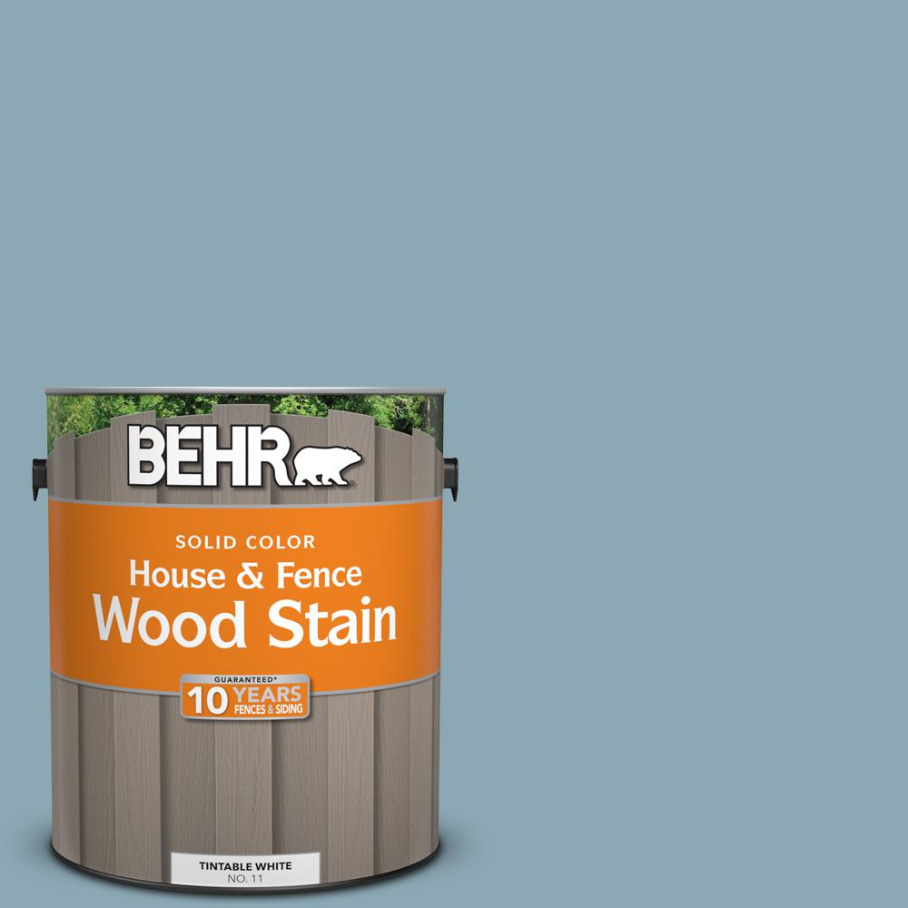 530f 4 Newport Blue Solid Color House And Fence Exterior Wood Stain