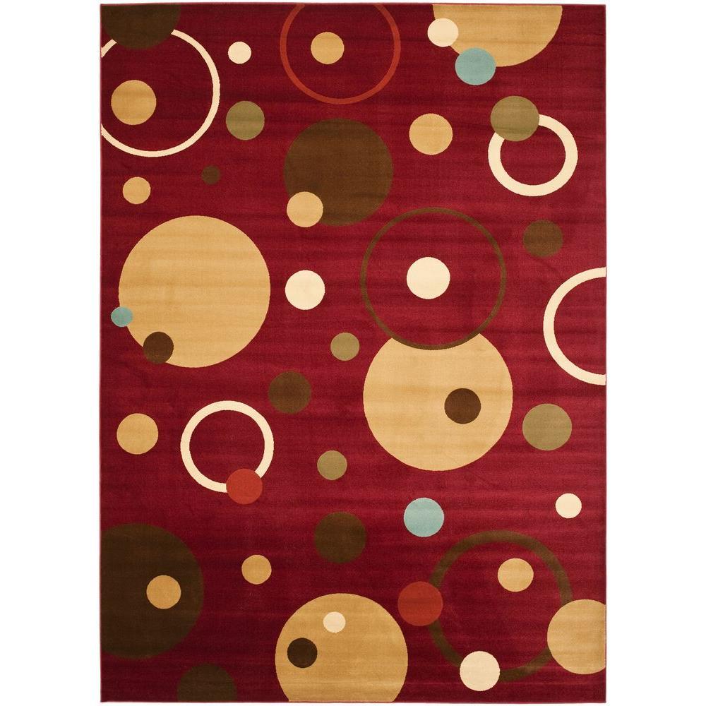 Safavieh Porcello Red/Multi 5 ft. x 8 ft. Area Rug