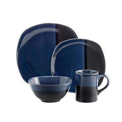 Costa 16-Piece Blue Dinnerware Set