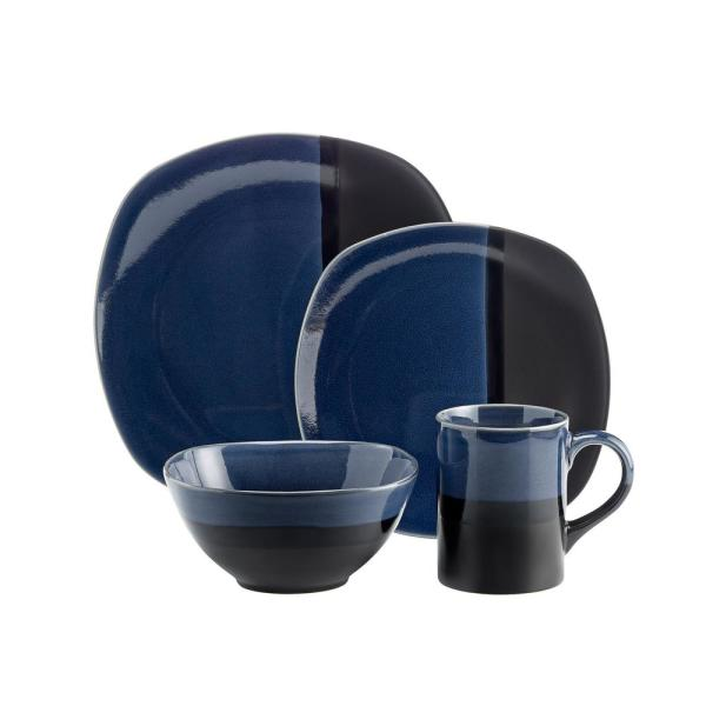 Costa 16-Piece Blue Dinnerware Set