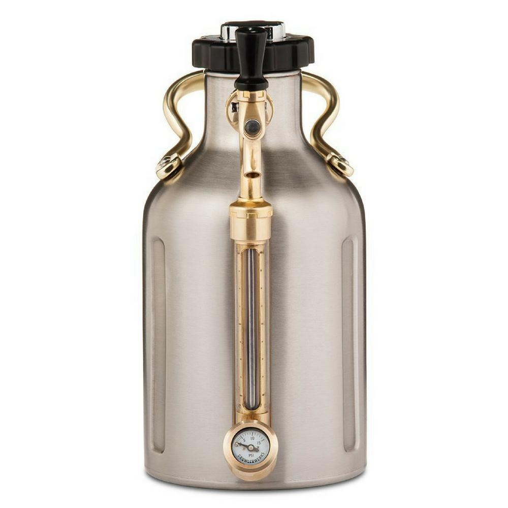 GrowlerWerks GrowlerWerks uKeg 64 oz. Stainless Steel Pressurized Growler