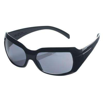 Indoor/Outdoor Black Frame Smoke Lens Safety Sun Eye Wear