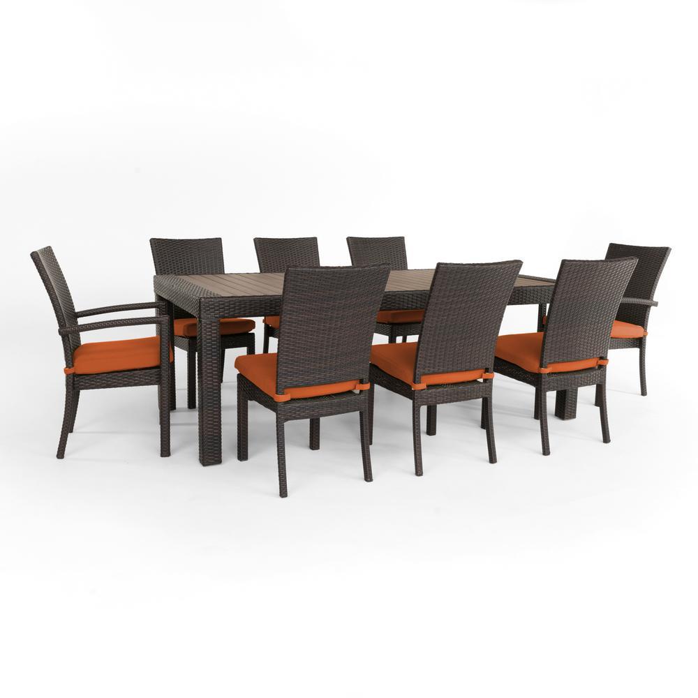 Wicker Dining Set Tikka Orange Furniture Sets