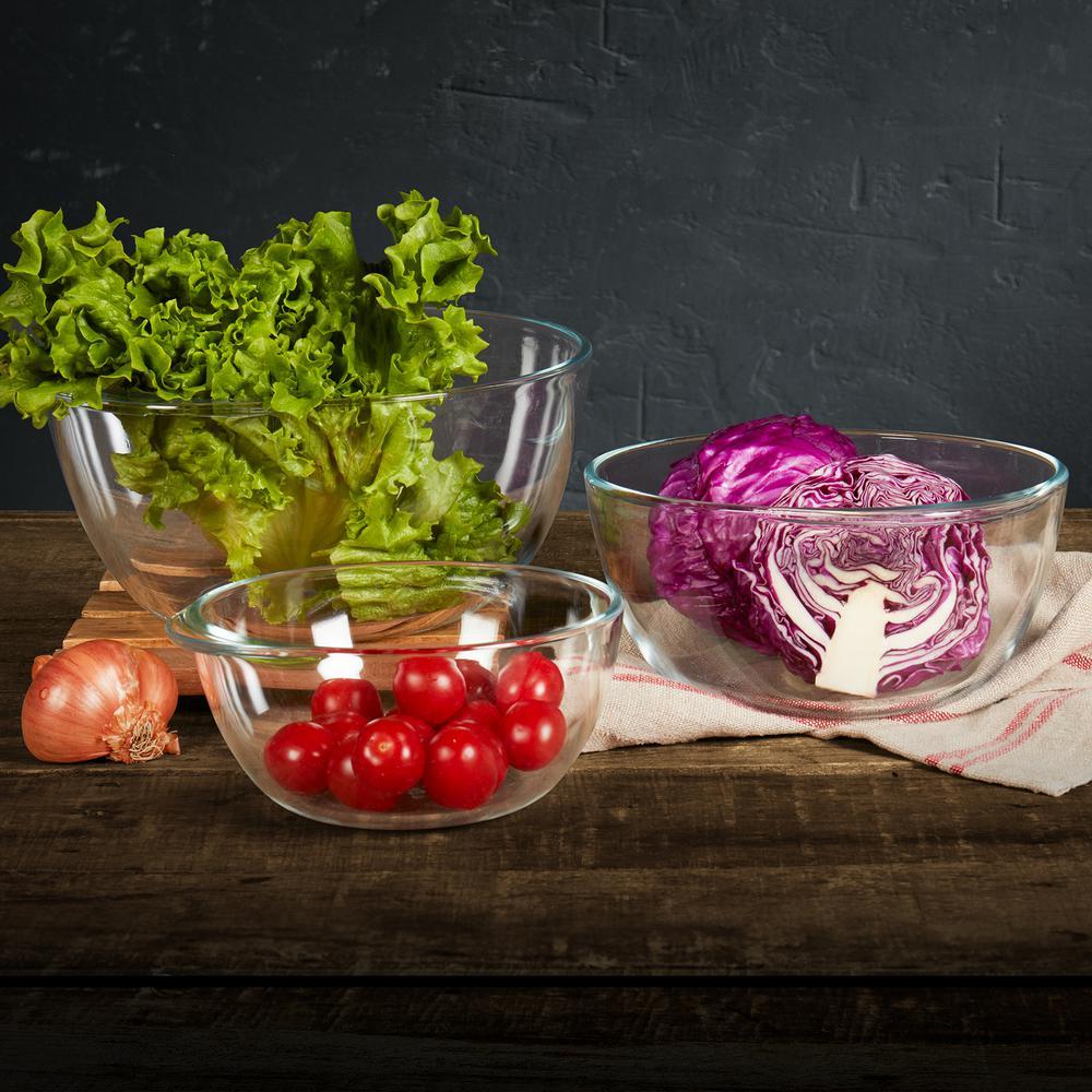 3-Piece Glass Bowl Set