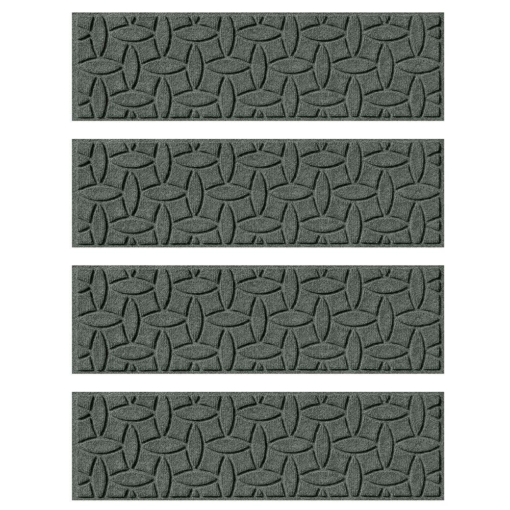 Charcoal 8.5 in. x 30 in. Ellipse Stair Tread Cover (Set
