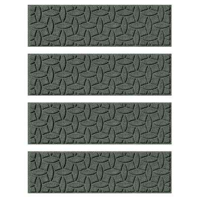 Charcoal 8.5 in. x 30 in. Ellipse Stair Tread Cover (Set of 4)