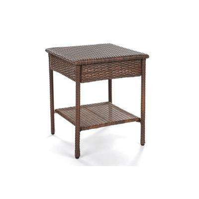 Galleon Collection Wicker Outdoor Patio End Table