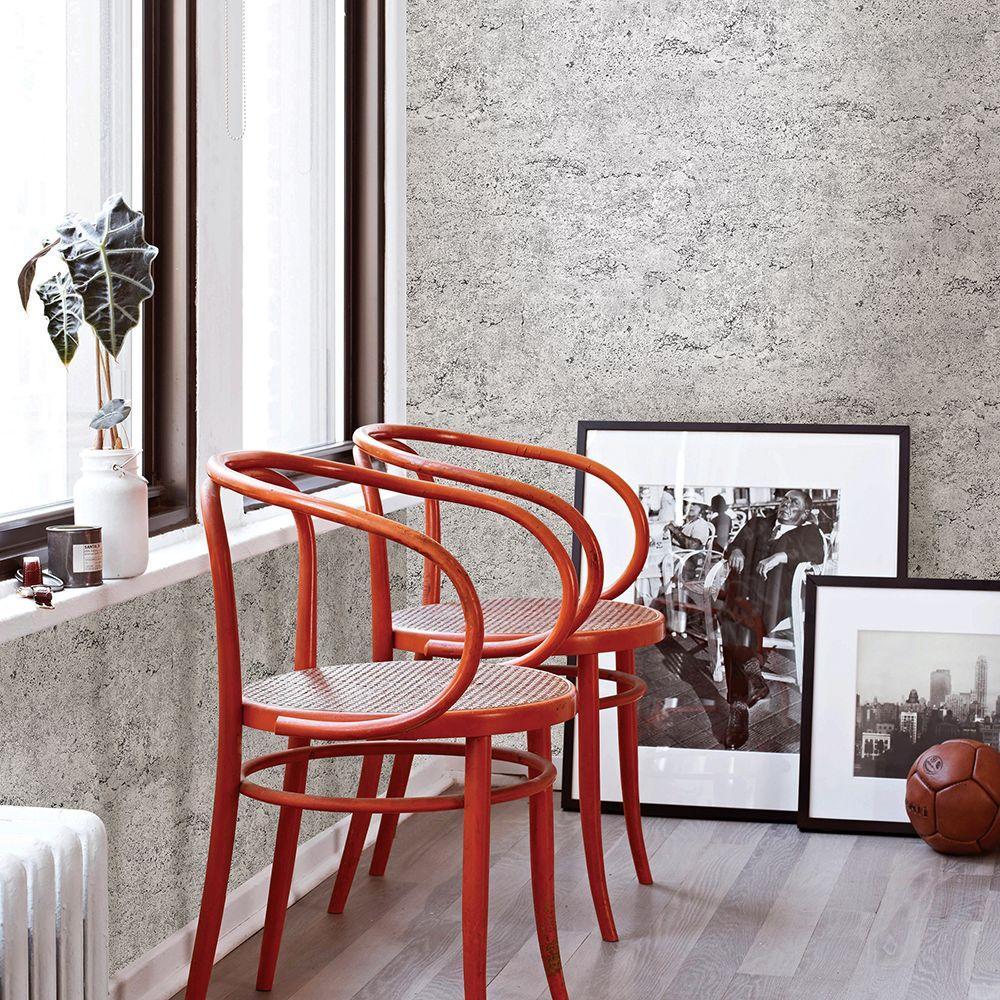 Light Grey Concrete Rough Industrial Wallpaper
