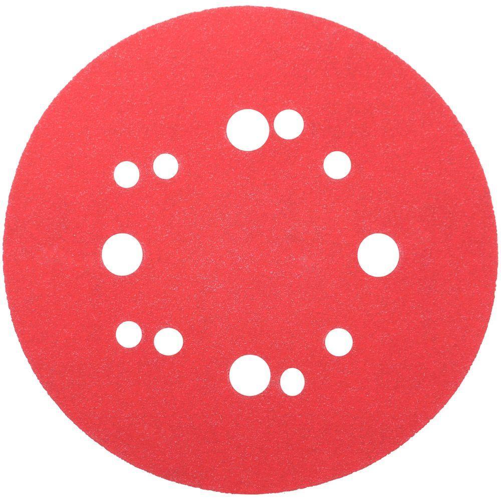 DIABLO 5 in. 120-Grit Universal Hole Random Orbital Sanding Disc with Hook and Lock Backing (50-Pack)