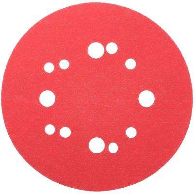 5 in. 120-Grit Universal Hole Random Orbital Sanding Disc with Hook and Lock Backing (50-Pack)