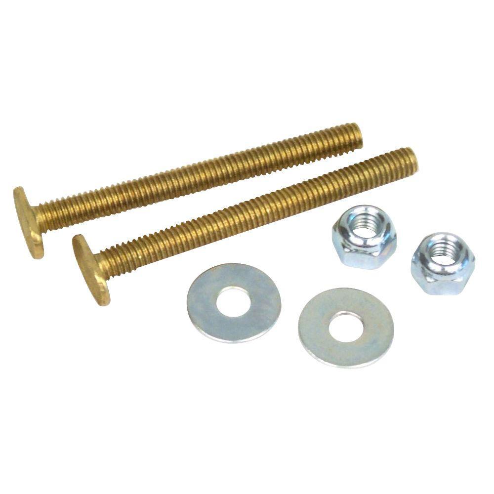 DBHL 5/16 in. x 3-1/2 in. Brass Toilet Bolt (2-Pack)