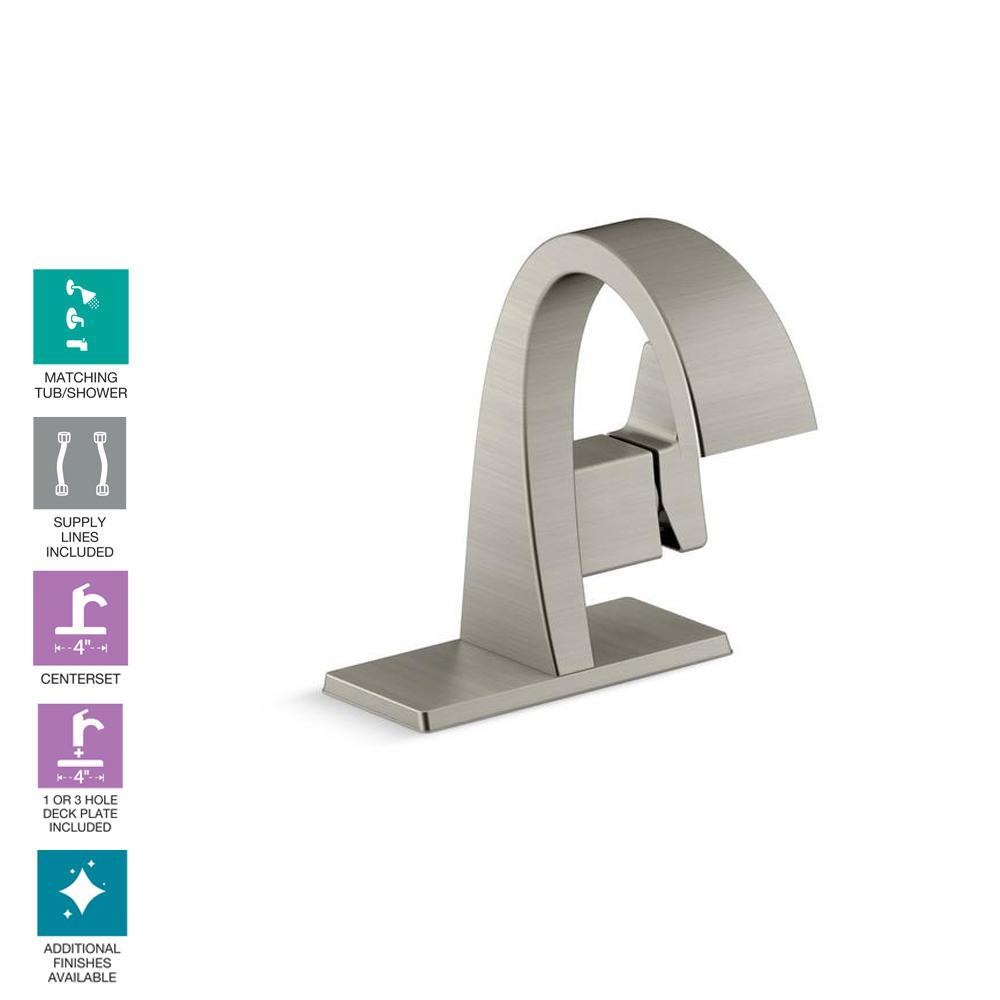 Katun Single Hole Single Handle Bathroom Faucet in Vibrant Brushed Nickel