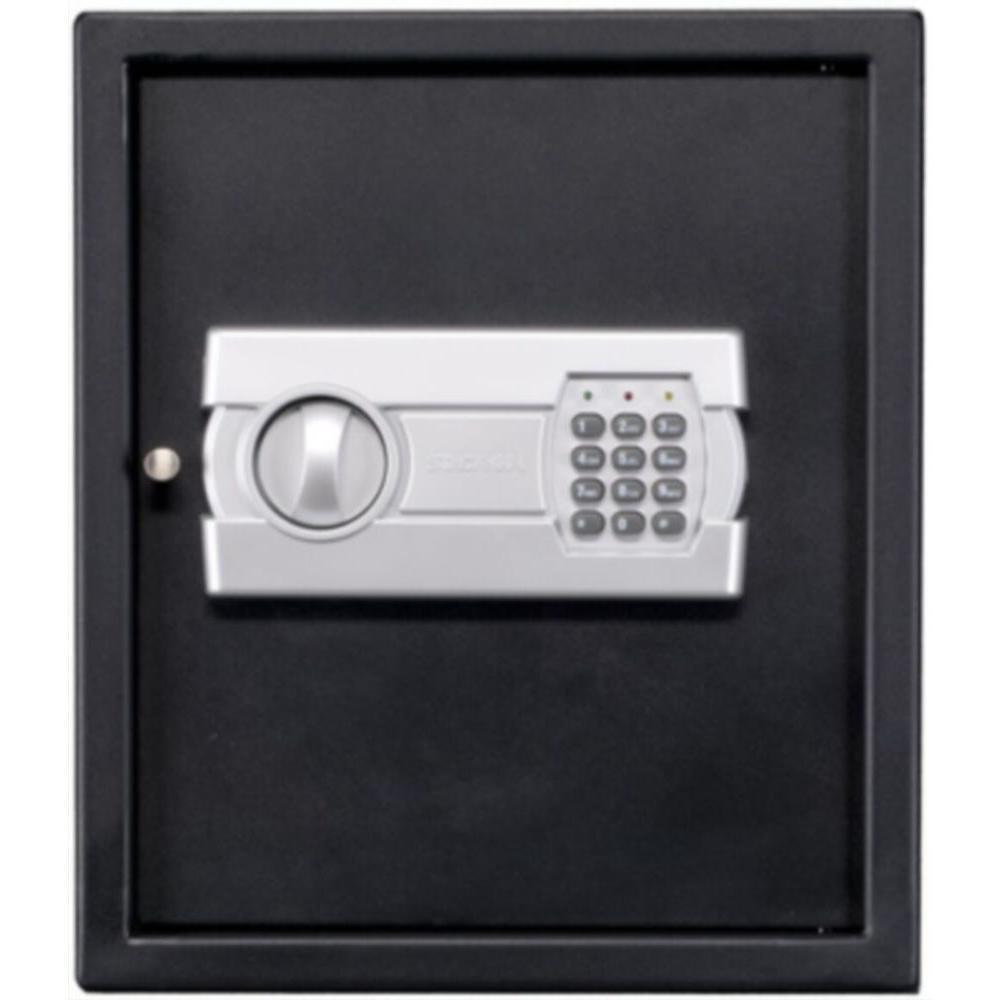 Stack-On 1 Shelf Personal Drawer/Wall Safe with Electronic Lock in Black