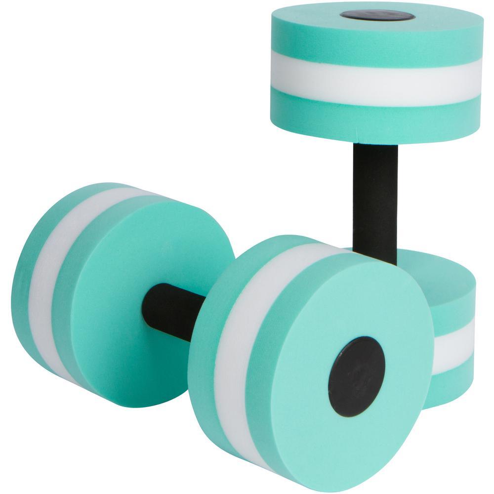 Teal Foam Aquatic Exercise Dumbbells for Water Aerobics (2-Set)
