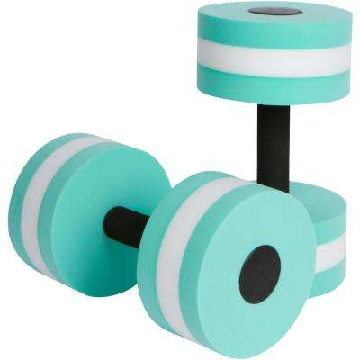 Teal Foam Aquatic Exercise Dumbbells for Water Aerobics (2-Set)