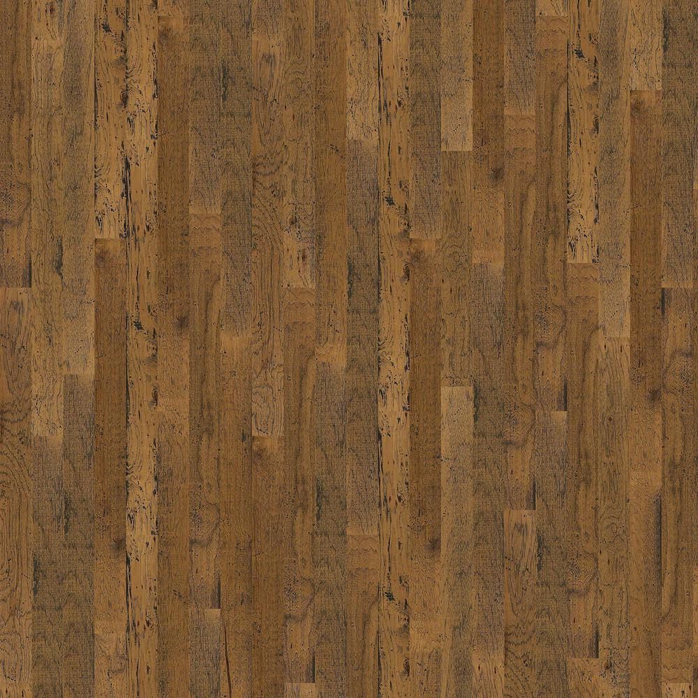 Shaw Chinos Hickory 5 in. Almond  3/8 in. T x 5 in. W x Varying Length Engineered Hardwood Flooring (23.66 sq. ft. /case)