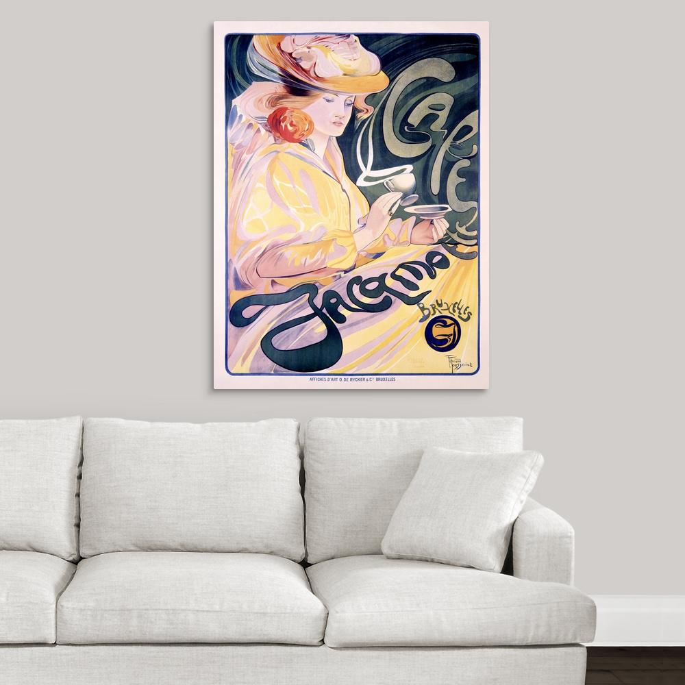 Greatcanvas Jacqmotte Cafe Vintage Poster By Artehouse Canvas Wall Art