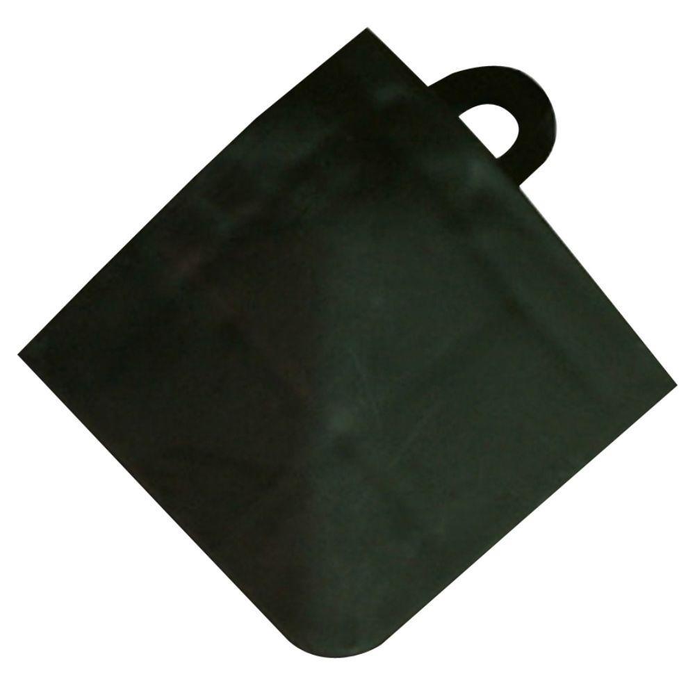 Max Tile Black 2-3/8 in. x 2-3/8 in. x 5/8 in. Corner Vinyl Laminate Interlocking Floor Tile (Case of 4)