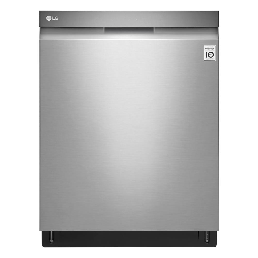 LG Electronics 24 in. Top Control Built-In Tall Tub Smart Dishwasher in Stainless Steel with 3rd Rack and Stainless Steel Tub, 44 dBA