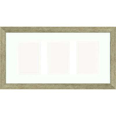 3-Opening 4 in. x 6 in. Matted Champagne Photo Collage Frame (Set of 2)