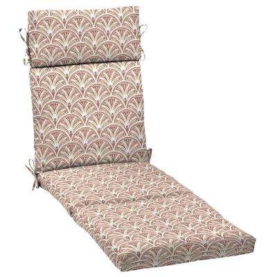 Artisans 72 in. x 21 in. Gatsby Deco Geo Outdoor Chaise Lounge Cushion