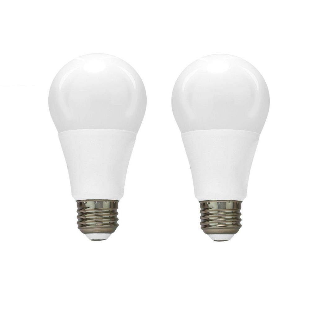 Euri Lighting 60W Equivalent Cool White A19 Dimmable LED Light Bulb (2-Pack)