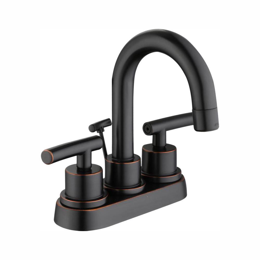 Glacier Bay Dorset 4 in. Centerset 2-Handle High-Arc Bathroom Faucet in Bronze