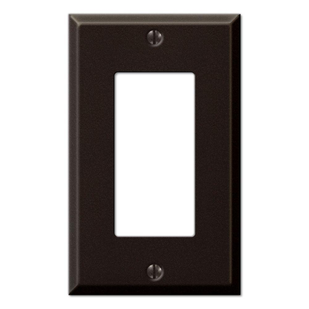 Creative Accents Steel 1 Decora Wall Plate - Antique Bronze