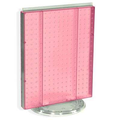 20.25 in. H x 16 in. W Revolving Pegboard Counter Display Pink