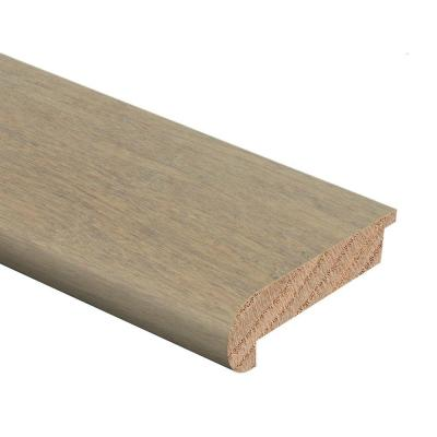 Strand Woven Bamboo Driftwood 1/2 in. Thick x 2-3/4 in. Wide x 94 in. Length Hardwood Stair Nose Molding Flush