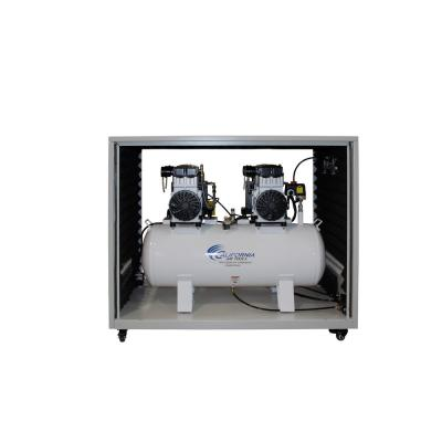 20 Gal. 4.0 HP Ultra-Quiet and Oil-Free Electric Stationary Air Compressor with Air Dryer in a Soundproof Cabinet