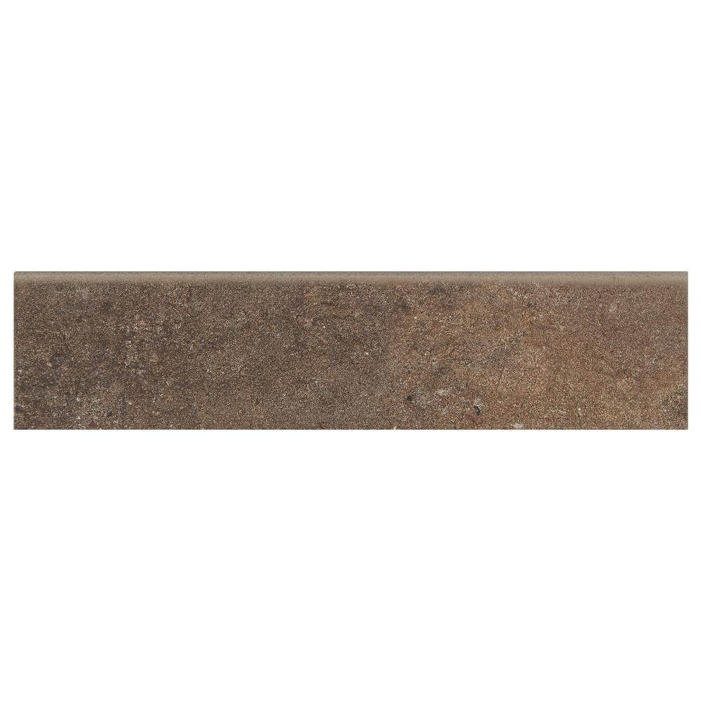 Longbrooke Parkstone 3 In X 12 Ceramic Floor And Wall Bullnose Tile
