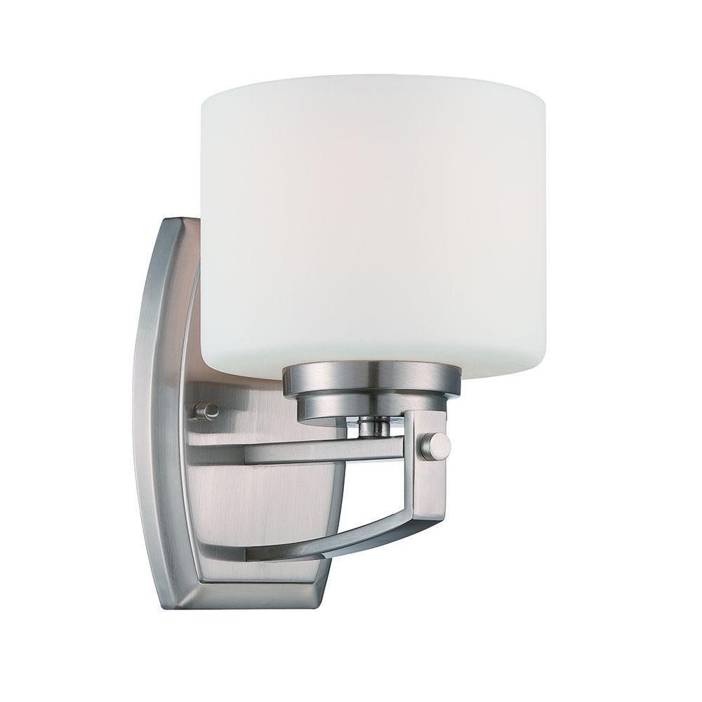 Axel 1-Light Satin Platinum Wall Sconce