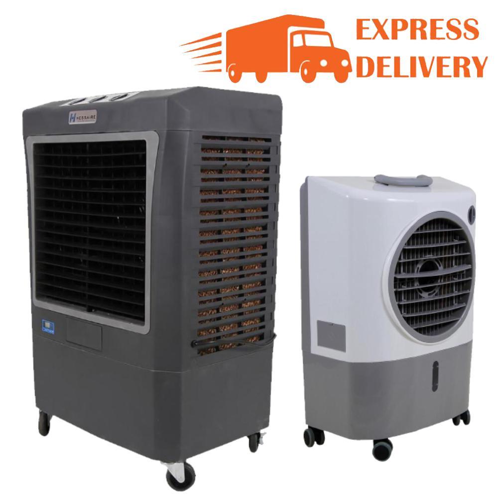 3,100 CFM 3-Speed Portable Evaporative Cooler for 950 sq. ft. and 1,300 CFM 2-Speed Evap Cooler for 500 sq. ft. Combo