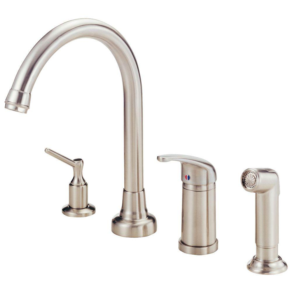 Danze Melrose Single-Handle Standard Kitchen Faucet in Stainless Steel