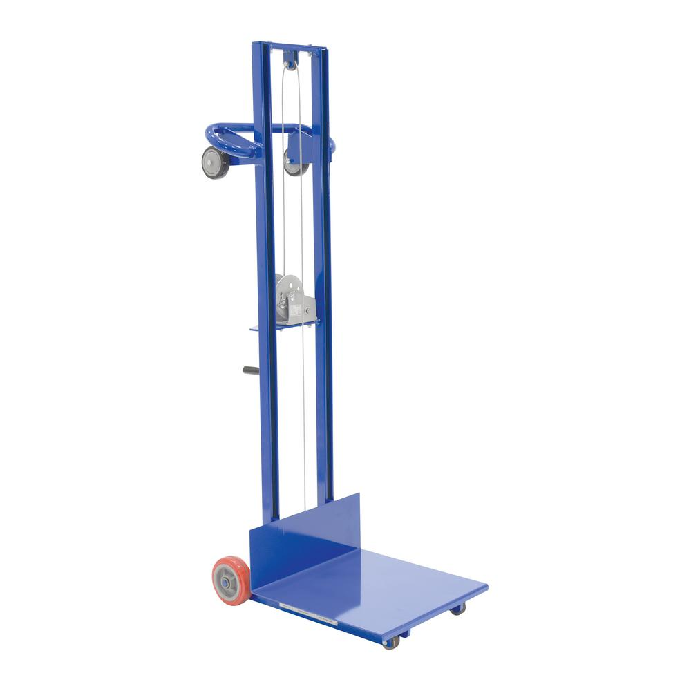 Steel Lifting : Vestil lb steel winch operated lite load lift with