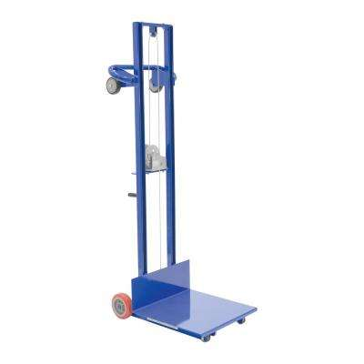 500 lb. Steel Winch Operated Lite Load Lift with Fixed Wheels