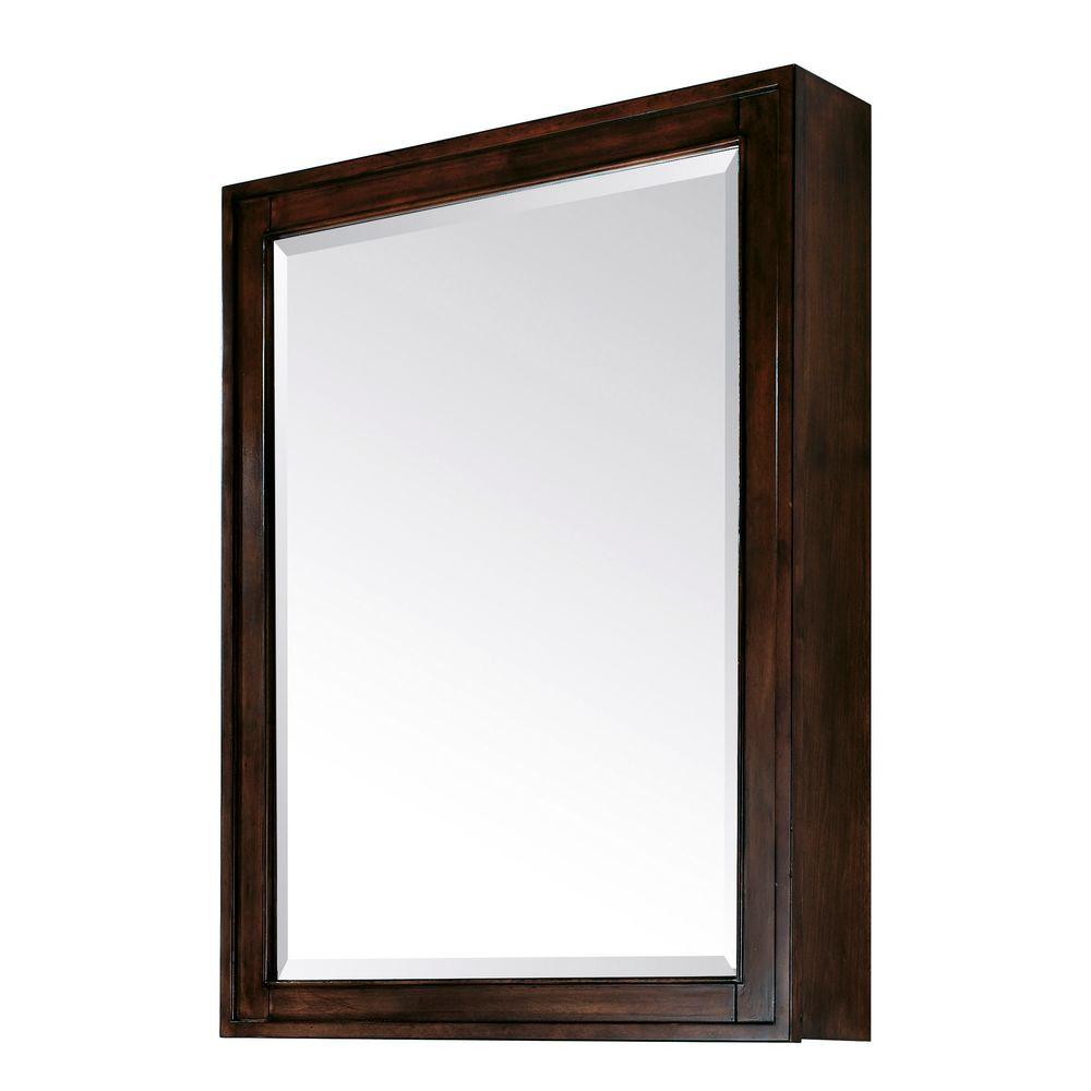 Avanity madison 28 in w x 36 in h x 6 3 10 in d framed surface mount 3 shelf bathroom for Espresso bathroom medicine cabinet