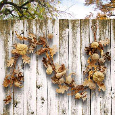 72 in. Pumpkin and Pinecone Garland
