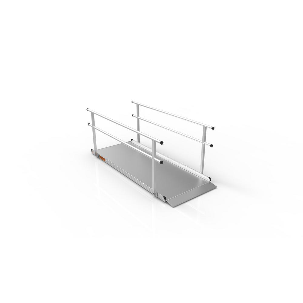 EZ-ACCESS Gateway 8 ft. Aluminum Portable Ramp with Handr...