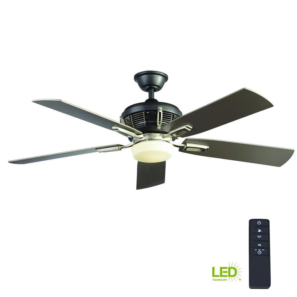 Johns Creek 56 in. Integrated LED Indoor Brushed Nickel Ceiling Fan