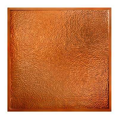 Chicago 2 ft. x 2 ft. Lay-In Tin Ceiling Tile in Copper (Case of 5)