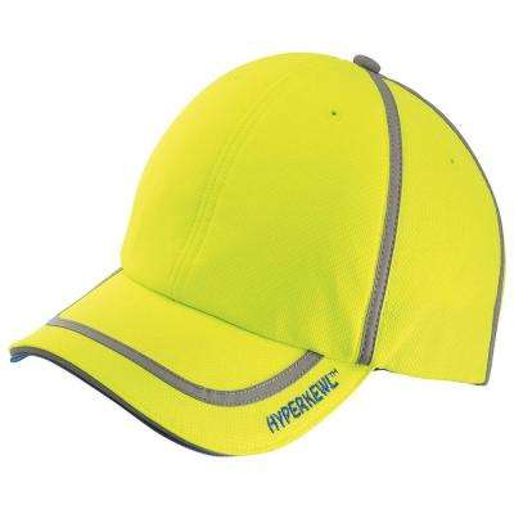 HiViz Lime Evaporative Cooling Baseball Cap with Hi-Visibility Tape