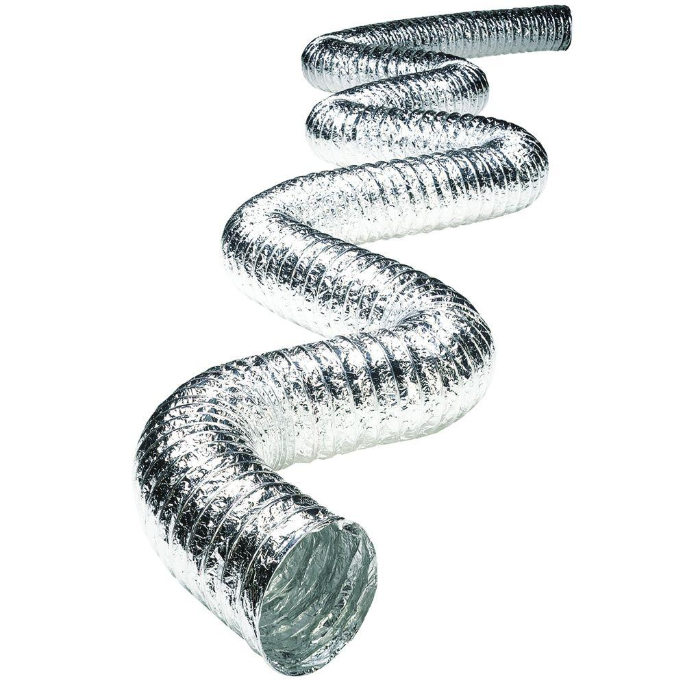 10 in. x 25 ft. Non-Insulated Flexible Aluminum Duct with Scrim